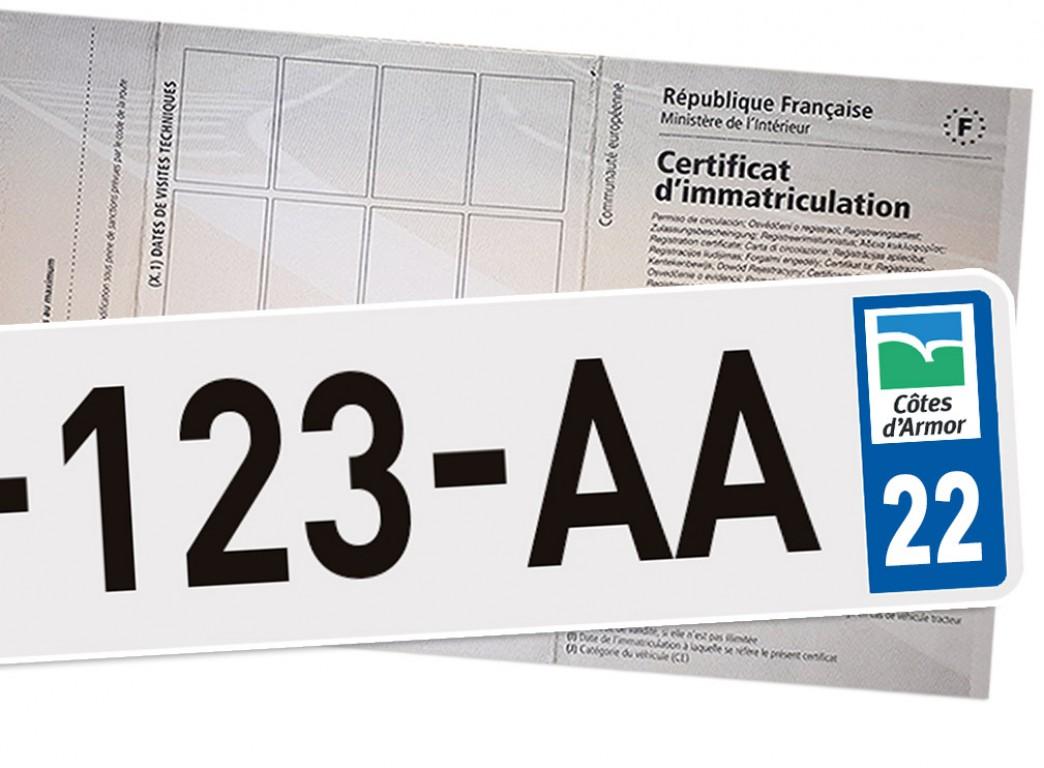 tarif carte grise 22 Prix carte grise Côtes d'Armor (22)   Tarif cheval fiscal